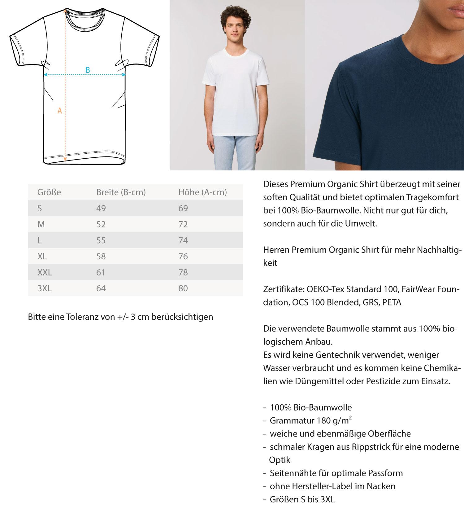 Old Town Freiburg (Unisex/Herren Premium Organic Shirt ST/ST)