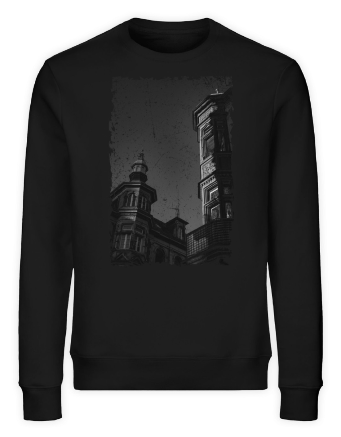 Old Town Freiburg (Unisex Premium Organic Sweatshirt ST/ST)